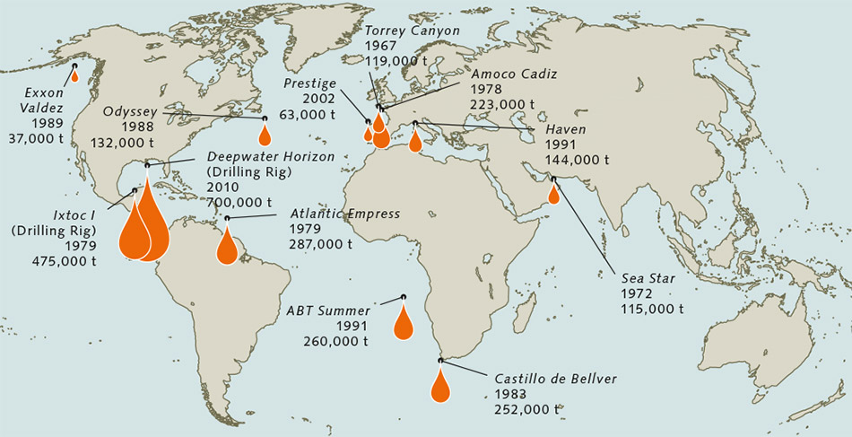 Oiling The Oceans World Ocean Review - Map of oil spills in the us