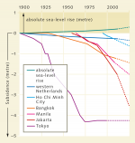 fig. 2.30: Tokyo managed to halt its land subsidence from the mid-1970s, unlike most other cities. © Deltares