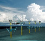 7.12 b > Tidal energy can be converted to electricity by underwater rotors, as at the SeaGen plant off the coast of Northern Ireland in Strangford Lough. One facility has already been constructed which feeds electricity into the grid onshore. Others will follow. © Marine Current Turbines Limited