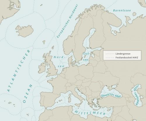 10.6 > Im dicht besiedelten Europa mit seinen vielen Grenzen ist die Ausschließliche Wirtschaftszone (AWZ) oftmals weniger als 200 Seemeilen breit. Das betrifft die Adria, die Nordsee und auch das Mittelmeer. Weltweit kommen in dem recht schmalen Band der AWZ immerhin 90 Prozent aller kommerziell relevanten Fischspezies vor. ©maribus