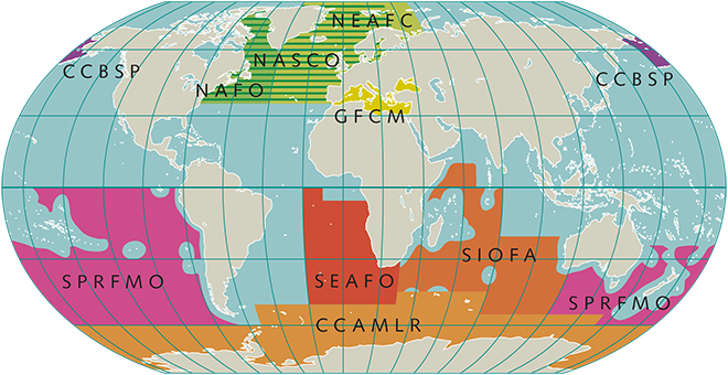 RFMOs that manage fish stocks by region