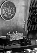 fig. 3.3: A conference on the Convention on the Law of the Sea (UNCLOS), held in March 1982 at the United Nations in New York. UNCLOS is one of the largest legal regimes on ocean governance. © UN Photo/Milton Grant